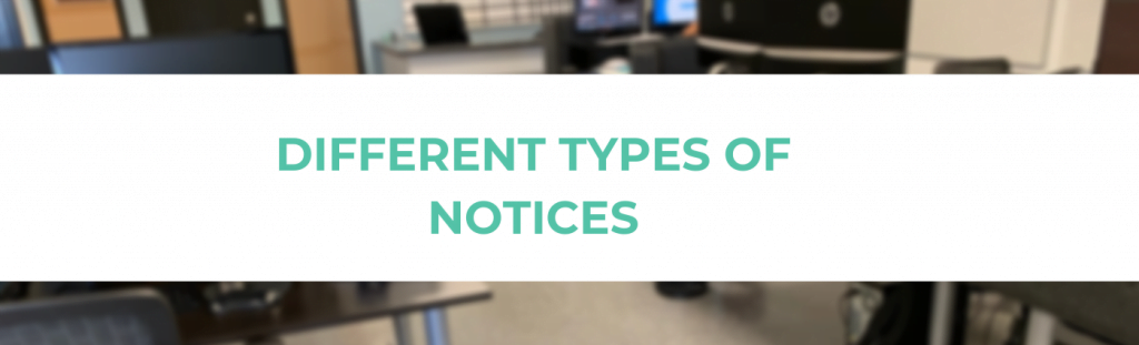 Different Types of Notices