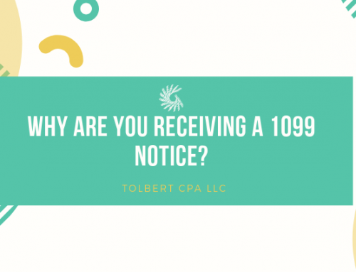 Why are you receiving a 1099 Notice?